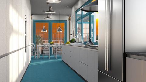Nautical Galley Kitchen - Kitchen  - by GraceKathryn