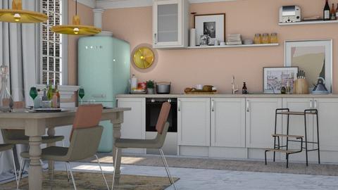 Pastel Gold - Modern - Kitchen - by HenkRetro1960