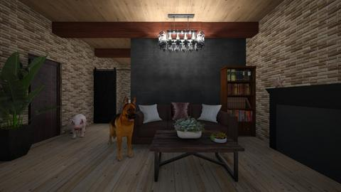 Barn living - Rustic - Living room  - by hannahelise