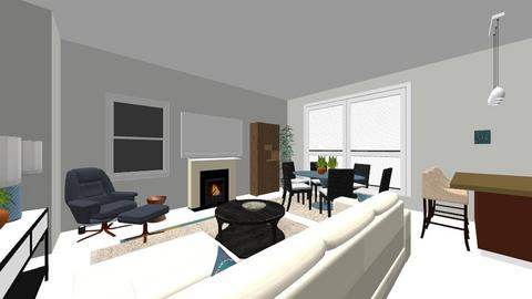 Maurice living TV Wall - Modern - Living room  - by Beth Hayward