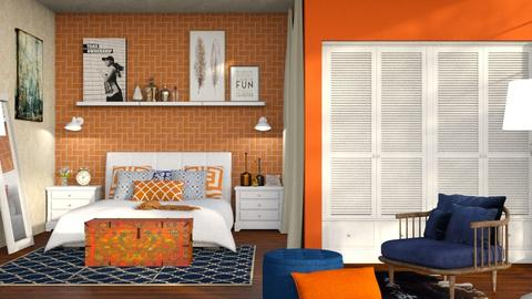 S_Orange Blue - Bedroom  - by Shajia