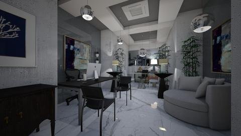 Office_Interiors_ - Modern - Office  - by Nikos Tsokos