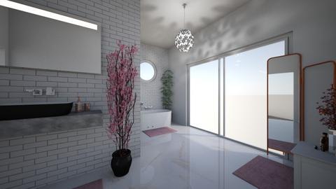 Cherry Blossom Bathroom - Bathroom  - by julia20122008