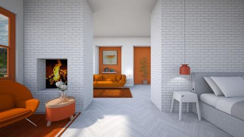 Orange and White - by heyfeyt
