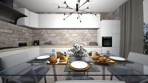 17m2 - Kitchen  - by 32000