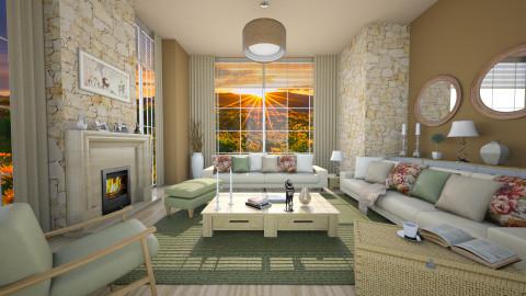 sunrise spring mood - Feminine - Living room  - by Senia N