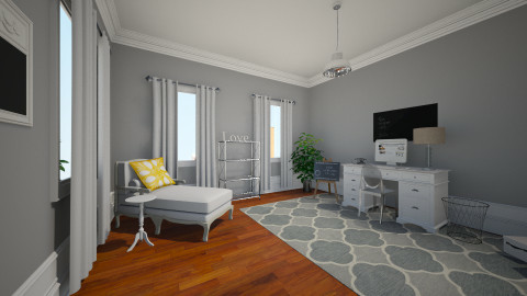 Grey bungalow - Rustic - Office  - by DesignLover321