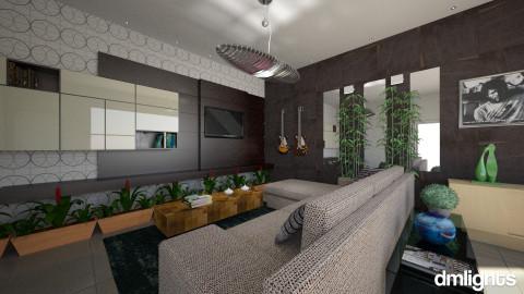 Sala de tv - Living room - by DMLights-user-1101900