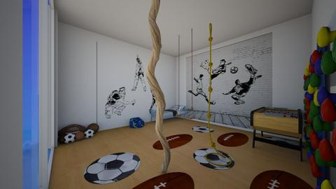 sport lovers bedroom - Bedroom  - by  Gemmy Giraffa