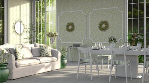 Green_Dining_Room - Kids room - by ZuzanaDesign