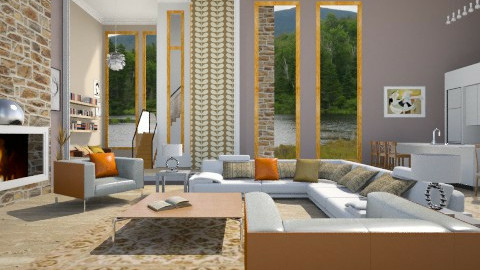 Open_ Plan Living - Modern - Living room  - by janip