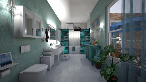 aqua accents - Bathroom - by hillygabe