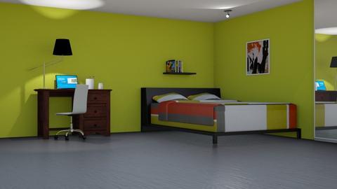 Red n Green - Bedroom  - by designcat31