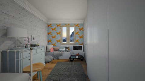 Blu - Vintage - Kids room - by Maria Esteves de Oliveira
