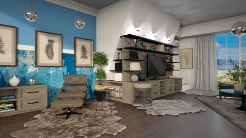 Grey ash_Blue - Modern - Living room  - by ZsuzsannaCs