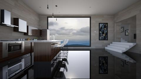 glossed kitchen - Modern - Kitchen  - by YourSisterTho