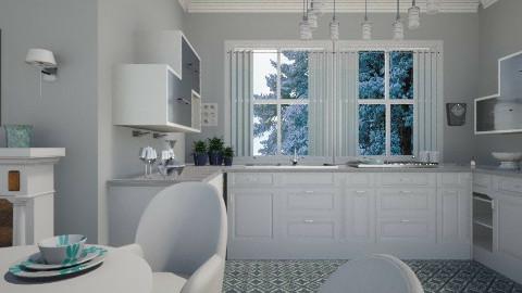 Quartz and aqua - Kitchen  - by milyca8