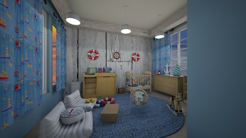 nautical nursery - Rustic - Kids room  - by kla