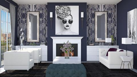 Art Deco Living - Living room  - by Lizzy0715