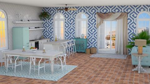 Greek kitchen dining - by 32103sarah