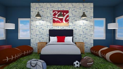 Sports Fan Bedroom - Bedroom  - by dogsrmylife