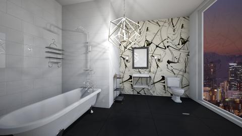 Black and White Bathroom - Bathroom - by Abbs33