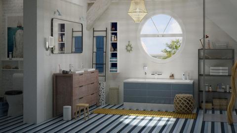 modern coastal - Bathroom  - by marinmarin