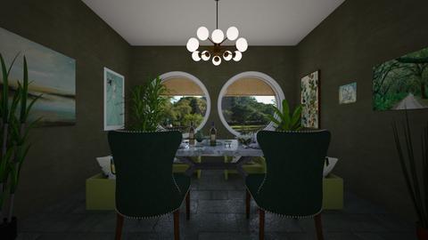 green dining - Rustic - Dining room - by Irishrose58