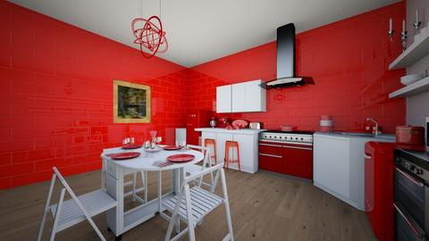 Redkitchen - Kitchen - by Emma_04
