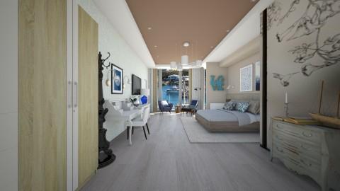 hotel room - Modern - Bedroom  - by Evangeline_The_Unicorn