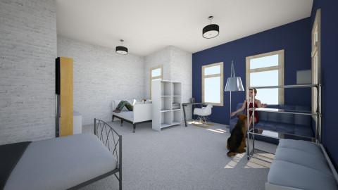 big bedroom 2 - Bedroom - by Julia Czeko Zienkiewicz