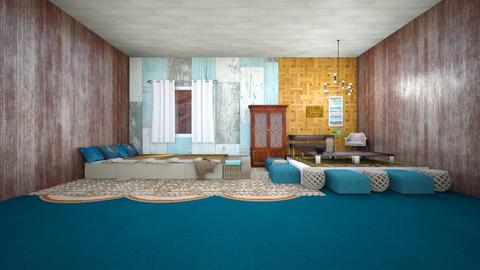 Blue and brown - Bedroom  - by gefenkl