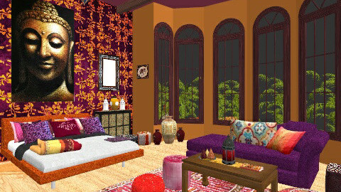 Moroccan  - Feminine - Bedroom - by christinasolari