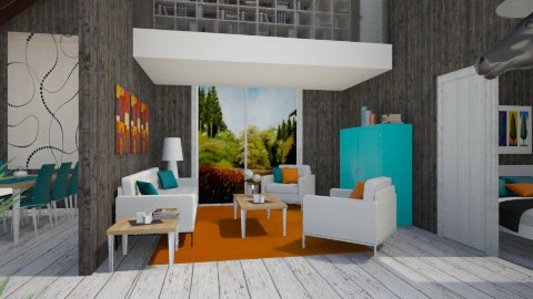 Now can I stay PLEEEASE - Eclectic - Living room  - by Theadora