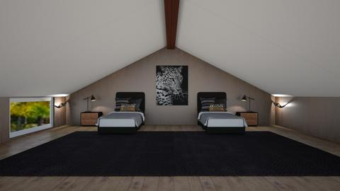 Rustic Attic Bedroom - Bedroom  - by 021snoopy205
