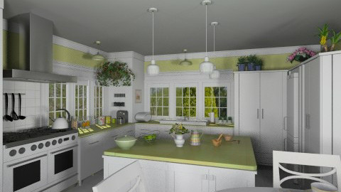 Kitchen for Martha - Classic - Kitchen - by Bibiche
