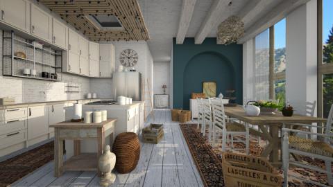 open kitchen - by Senia N