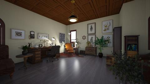 Naturalist office - Vintage - Office  - by PeculiarLeah