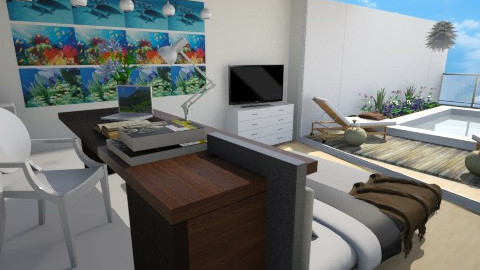 Room - Modern - Bedroom  - by anjuska9