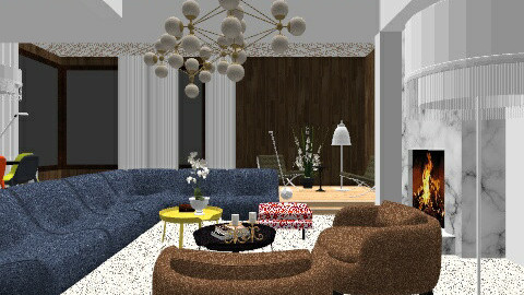 The Seventies Vibe - Retro - Living room  - by 080468571