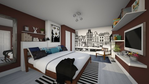 Bedroom redesign - Modern - Bedroom  - by Lizzy0715