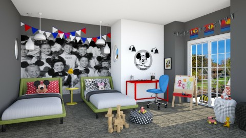 Mouseketeers - Classic - Kids room  - by IdaJo