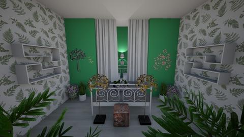Plant room contest - Vintage - Bedroom  - by waffledoghaha