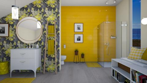 yellow bathroom - by IsabelRule
