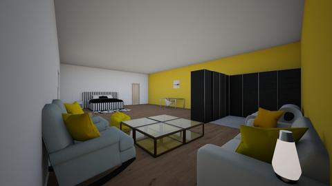 camera giallabianconera - Bedroom  - by rossy1210