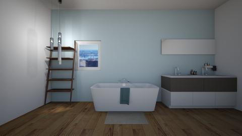 Modern cloudy bathroom - Bathroom  - by Hamzah luvs cats