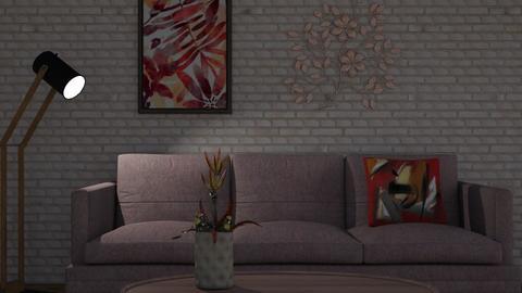 Bricks - Living room - by Milennieal pink