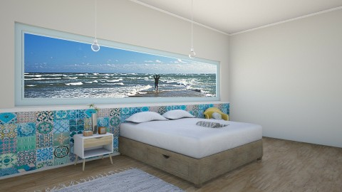 Design 01 Sea - Minimal - Bedroom - by AntigoneDellis