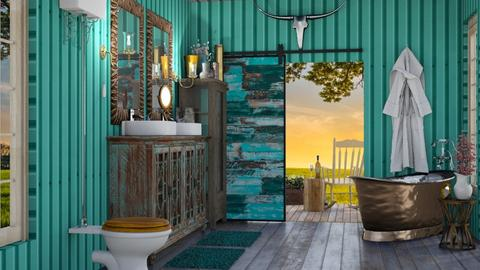 Turquoise Metal Bath - Bathroom - by jjp513