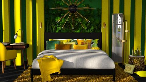 jungle bedroom - Modern - Bedroom  - by RimaNina